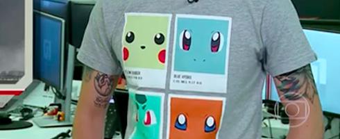 """a3be592457 SPFW  As camisetas do apresentador do """"G1 em 1 minuto"""""""